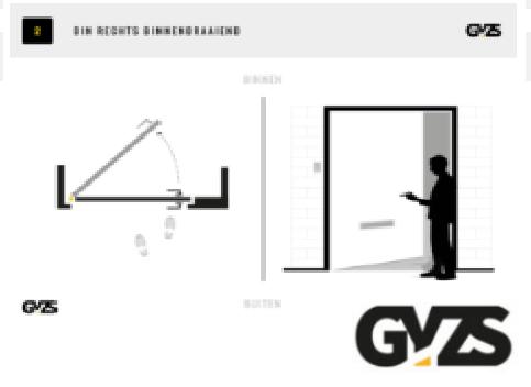 Hoe bepaal je de draairichting van een deur of slot?