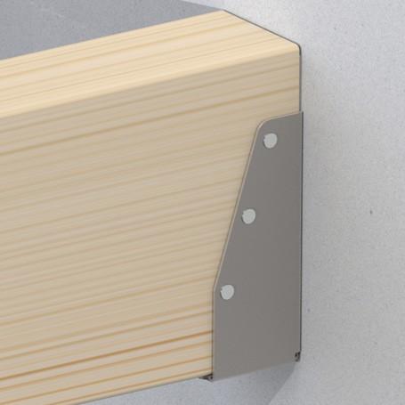 Plank Bevestigen Muur.Eenvoudig Een Balk Aan Uw Muur Bevestigen Met Een Balkdrager Gyzs Blog