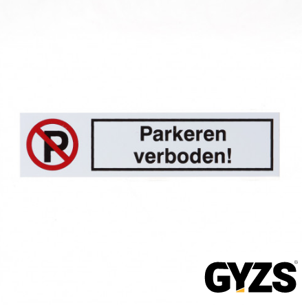 Sticker Parkeren verboden d5057