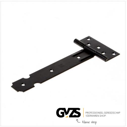 GB Kruisheng licht zwart verzinkt lengte 200mm 35 x 2mm