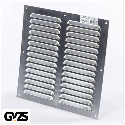 Gavo Schoepenrooster aluminium 30 x 30cm