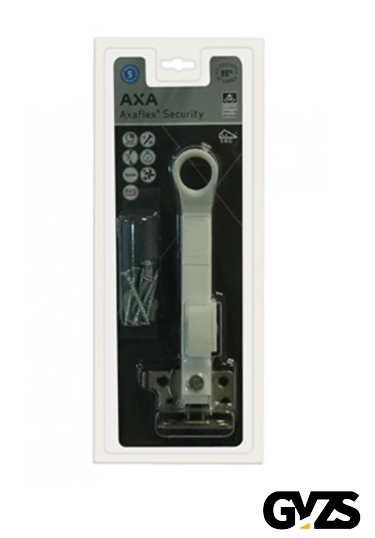 Axa Combi raamuitzetter Axaflex Security afsluitbaar RVS wit zwart 2660-20-74/E