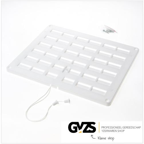 Nedco Schuifrooster kunststof wit afsluitbaar 300 x 250mm