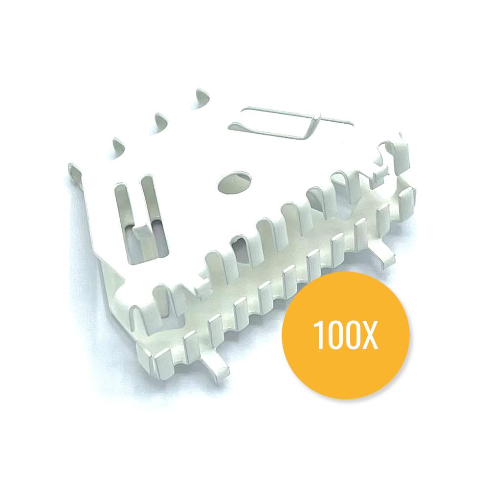 Bijenbekje 50mm RAL 9010 Zuiver wit (Set van 100 stuks) Stootvoegrooster