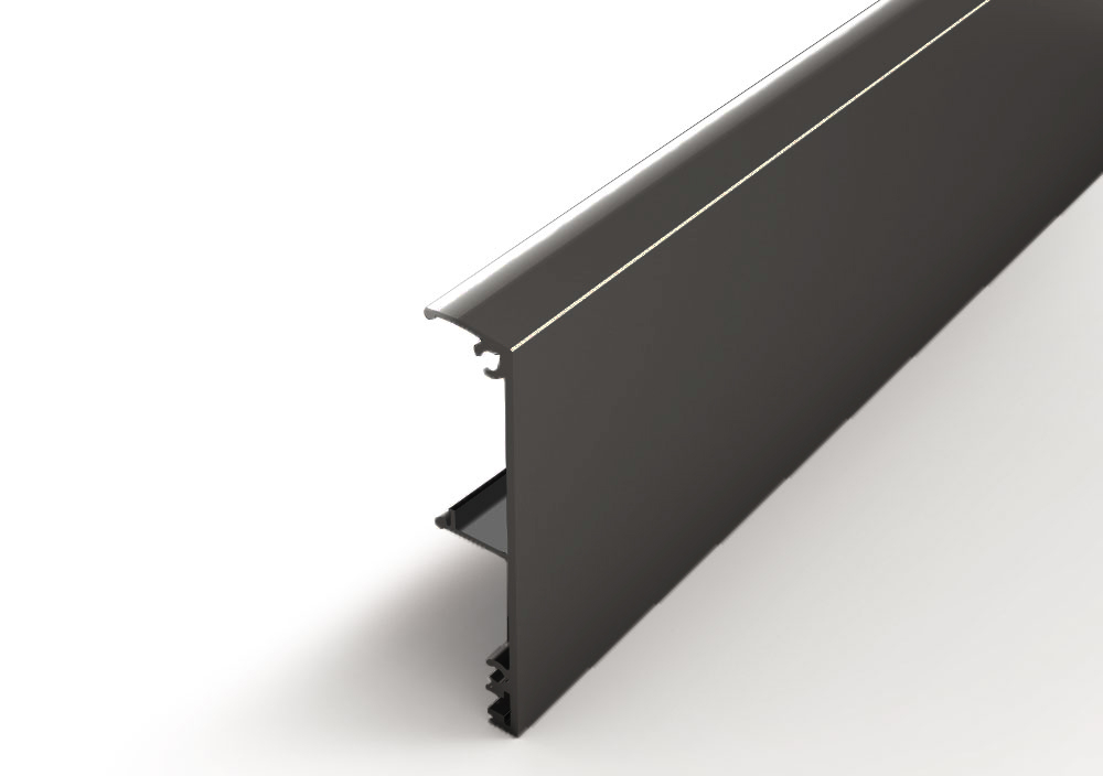 Argenta Proslide afdekkap wandmontage 2 meter Gitzwart RAL 9005