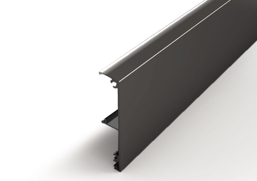 Argenta Proslide afdekkap wandmontage 4 meter Gitzwart RAL 9005