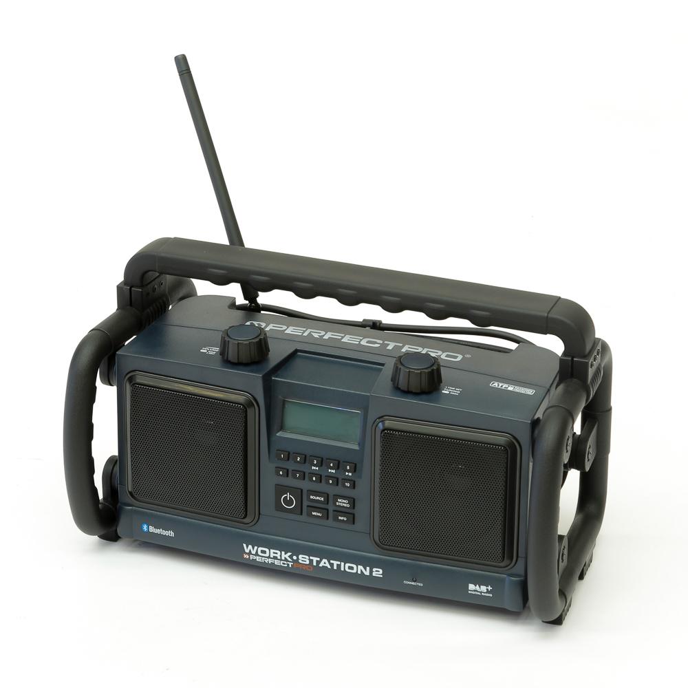 PerfectPro DAB+ radio Bouwradio spatwaterbestendig, stofdicht, stofvast Zwart