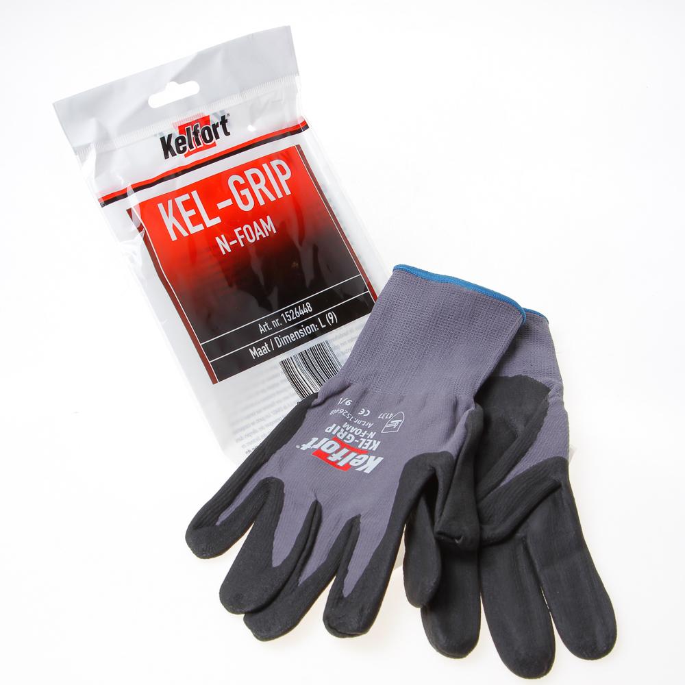 Kelfort Werkhandschoen maxgrip n-foam l-9 (per paar)