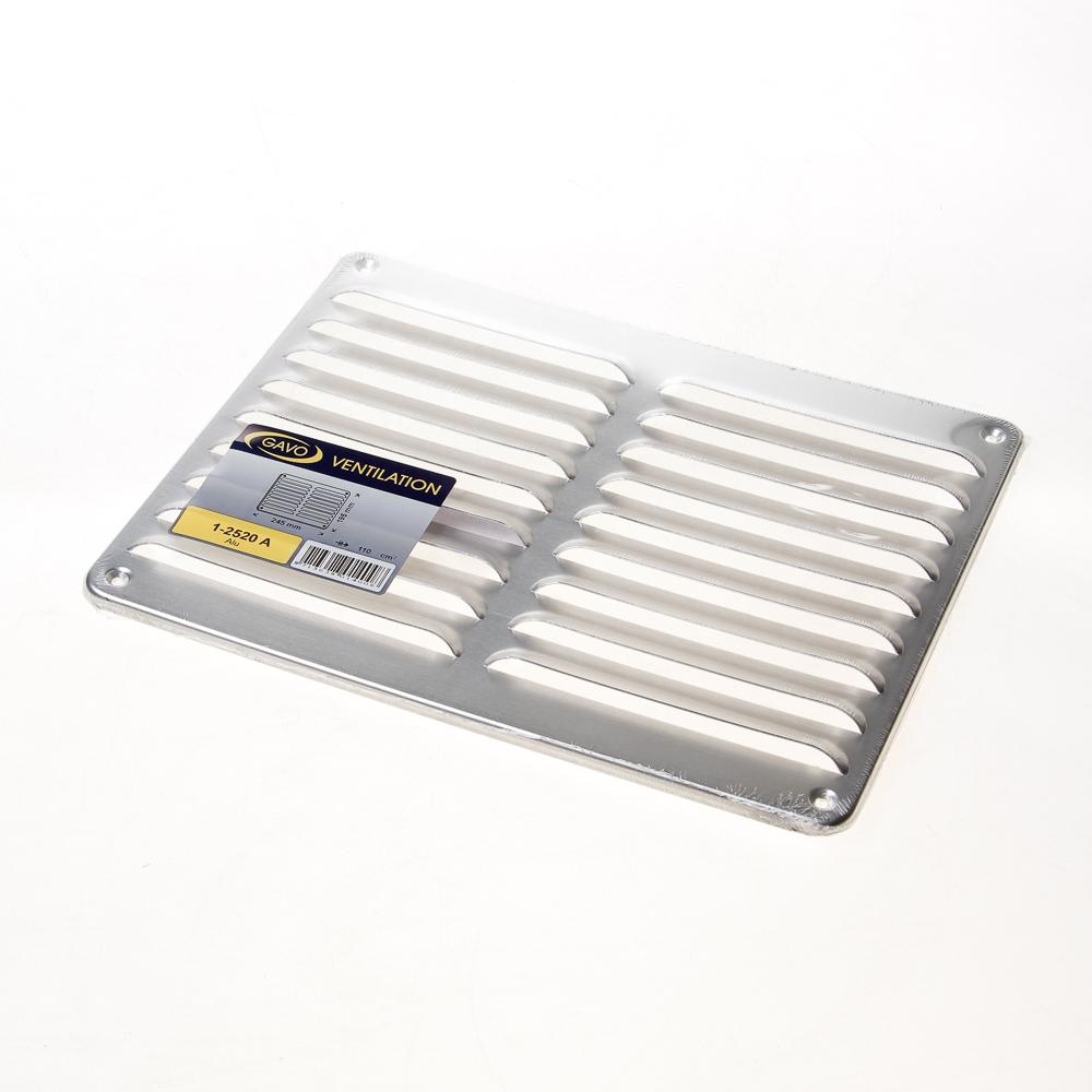Schoepenrooster Alum.   Blank       Ld108cm2 Bxh 25X20cm