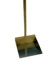 Stofblik lange steel zink (per stuk)