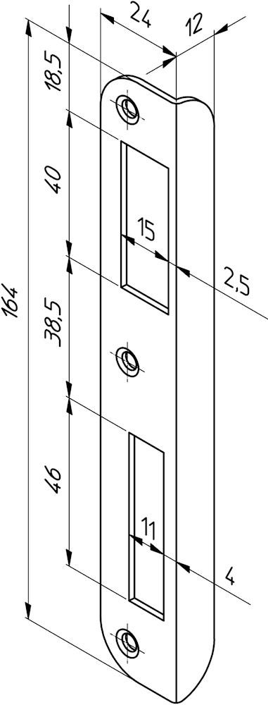 Nemef sluitplaat p7200-17 ls afgerond 9720090177 (Prijs per Stuk)