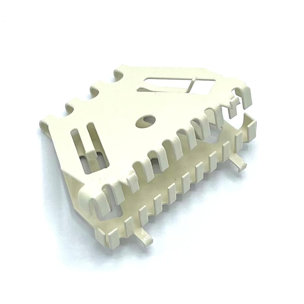 Bijenbekje stootvoegrooster 50mm RAL 1013 Parel wit