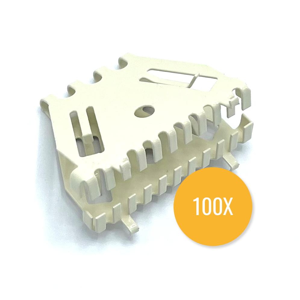 Bijenbekje 50mm RAL 1013 Parel wit (Set van 100 stuks) Stootvoegrooster
