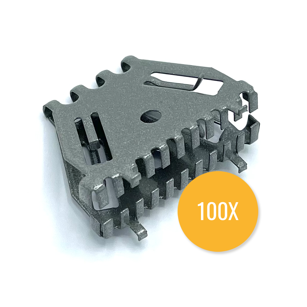 Bijenbekje 50mm RAL 9007 Alu grijs (Set van 100 stuks) Stootvoegrooster