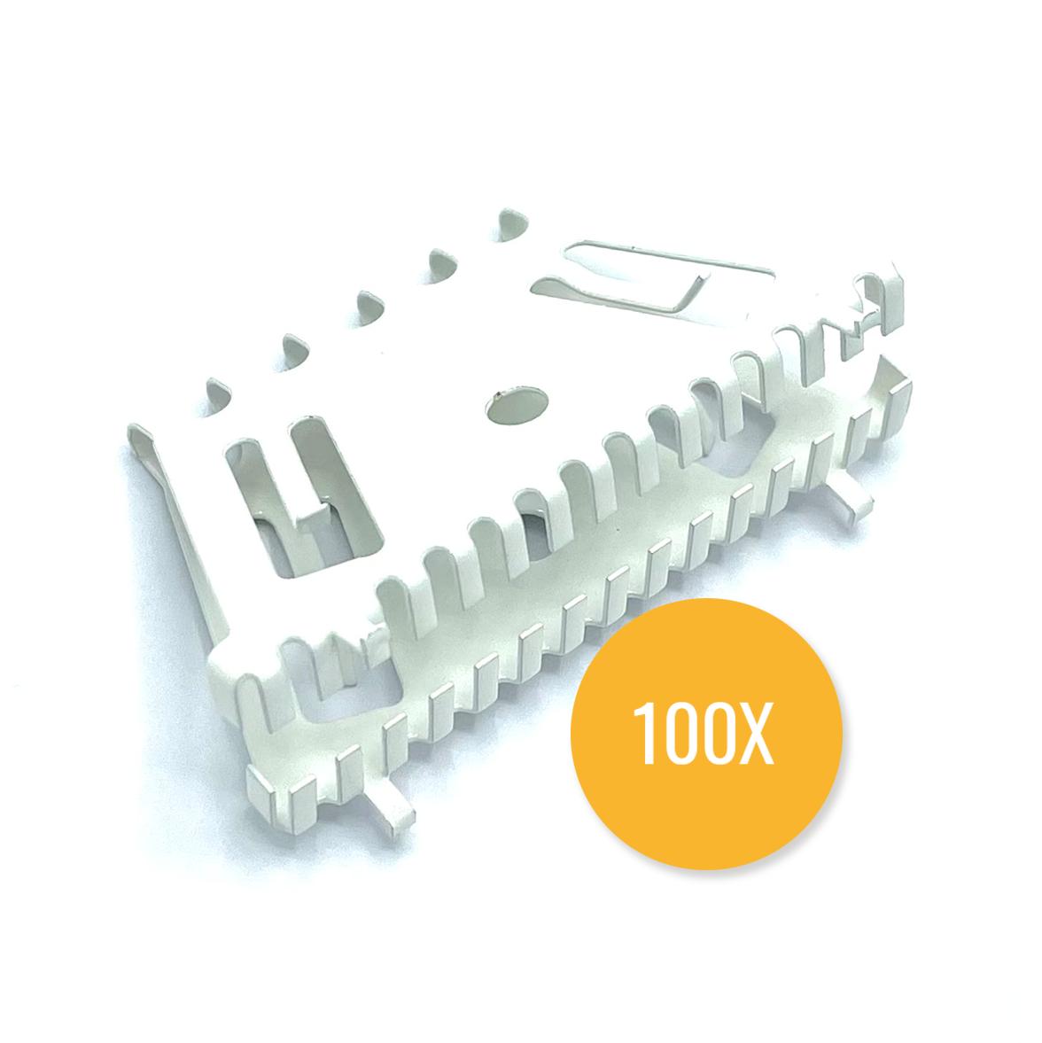 Bijenbekje 70mm RAL 9010 Zuiver wit (Set van 100 stuks) Stootvoegrooster
