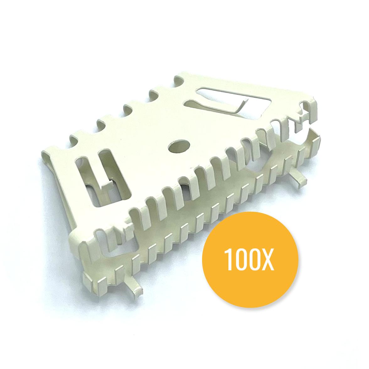 Bijenbekje 70mm RAL 1013 Parel wit (Set van 100 stuks) Stootvoegrooster