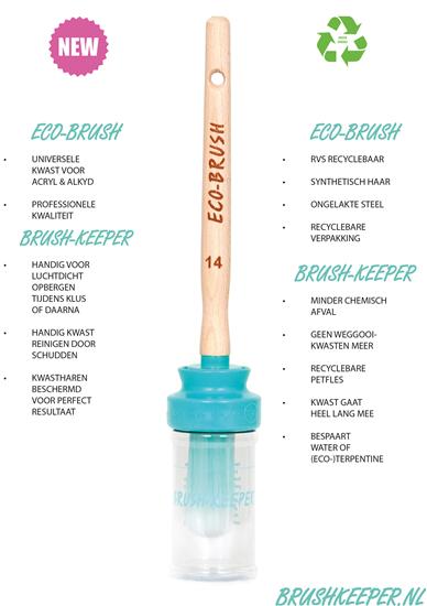Patentkwast en houder Brush keeper maat 14