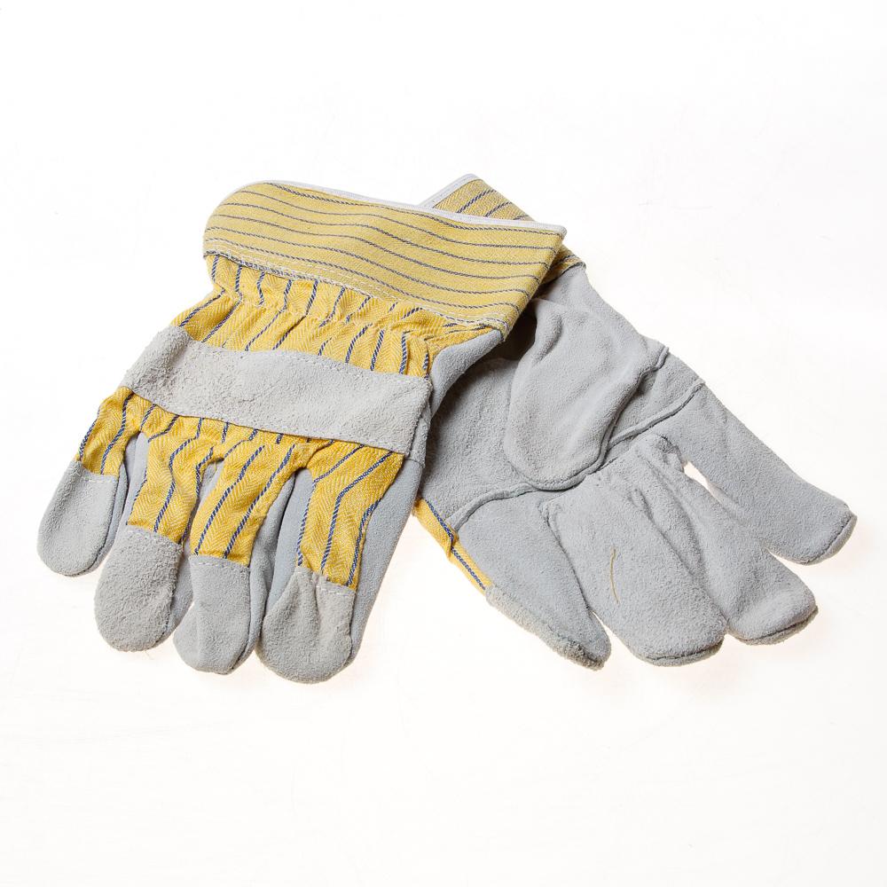 Handschoen splitleer m.verst- (per paar)