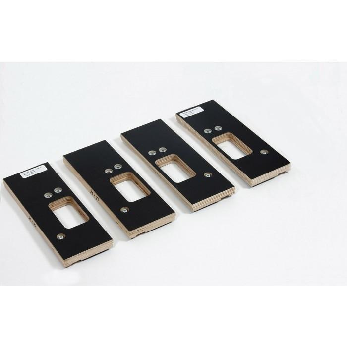Riens Scharnierfreesmal voor deuren en ramen met tochtstrip set 4-delig 76 x 76mm