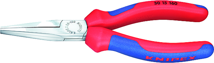 Knipex Langbektang verchroomd, platte bek 160 mm (per stuk)
