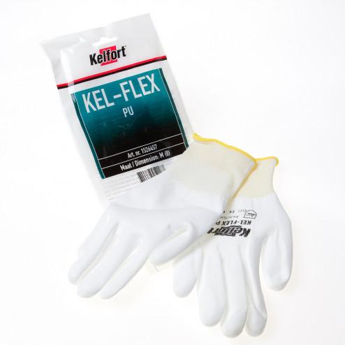 Kelfort Werkhandschoen flex pu wit maat M(8)