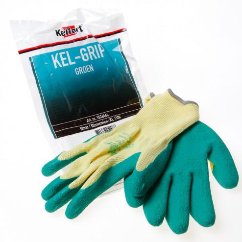 Kelfort Werkhandschoen latex groen maat XL(10)