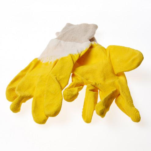 Rehamij Handschoen latex geel ventilatie rug maat XL(10)