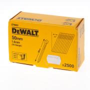 DeWalt Spijkers zonder kop gegalvaniseerd 50mm 16 Gauge 1,6mm 20° voor DC618 doos van 2500 spijkers