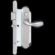 Brondool Carelock 1.0 - 01 met Priv. ALU F1, Gangzijde - Kruk 386 LED 72PC | Kamerzijde - Kruk 386 PR. BLIND DIN L