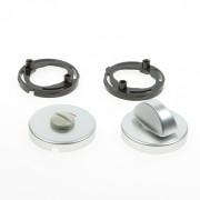 Hoppe Cilinderrozet, aluminium wc-rozet zilver 42kv/rw-sk/ol