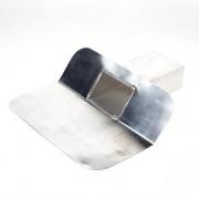 Dyka Aluminium kiezelbak model u dicht 6 x 10cm