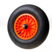 Kruiwagenwiel oranje 2ply