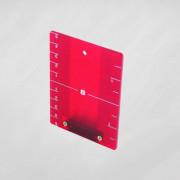 Doelplaat rood met magneet 520032