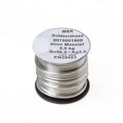 Tin-zilversoldeer zacht massief sn96.5/ag3.5 2mm 0.5kg