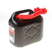 Kelfort Jerrycan zwart voor benzine/water schenktuit 5 liter