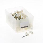 Kabelbeugels wit 6mm 6/25W
