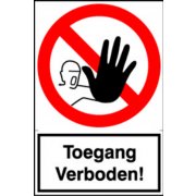 Artelli Sticker Toegang verboden