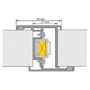 Deurnaaldprofiel binnen/binnen slotsparing Nemef 1200 type pr.-2000 40mm N.1200 2850mm
