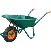 Vabor Kruiwagen 80 liter stalen bak 2ply luchtband groen