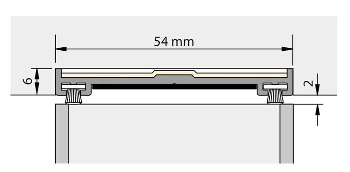 Alprokon Dorpelprofiel brandwerend, aluminium Ferno-Tec no. 404 (per stuk)