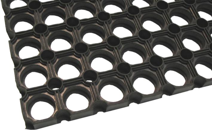 Rubbermat open ring 40x60 cm (per stuk)