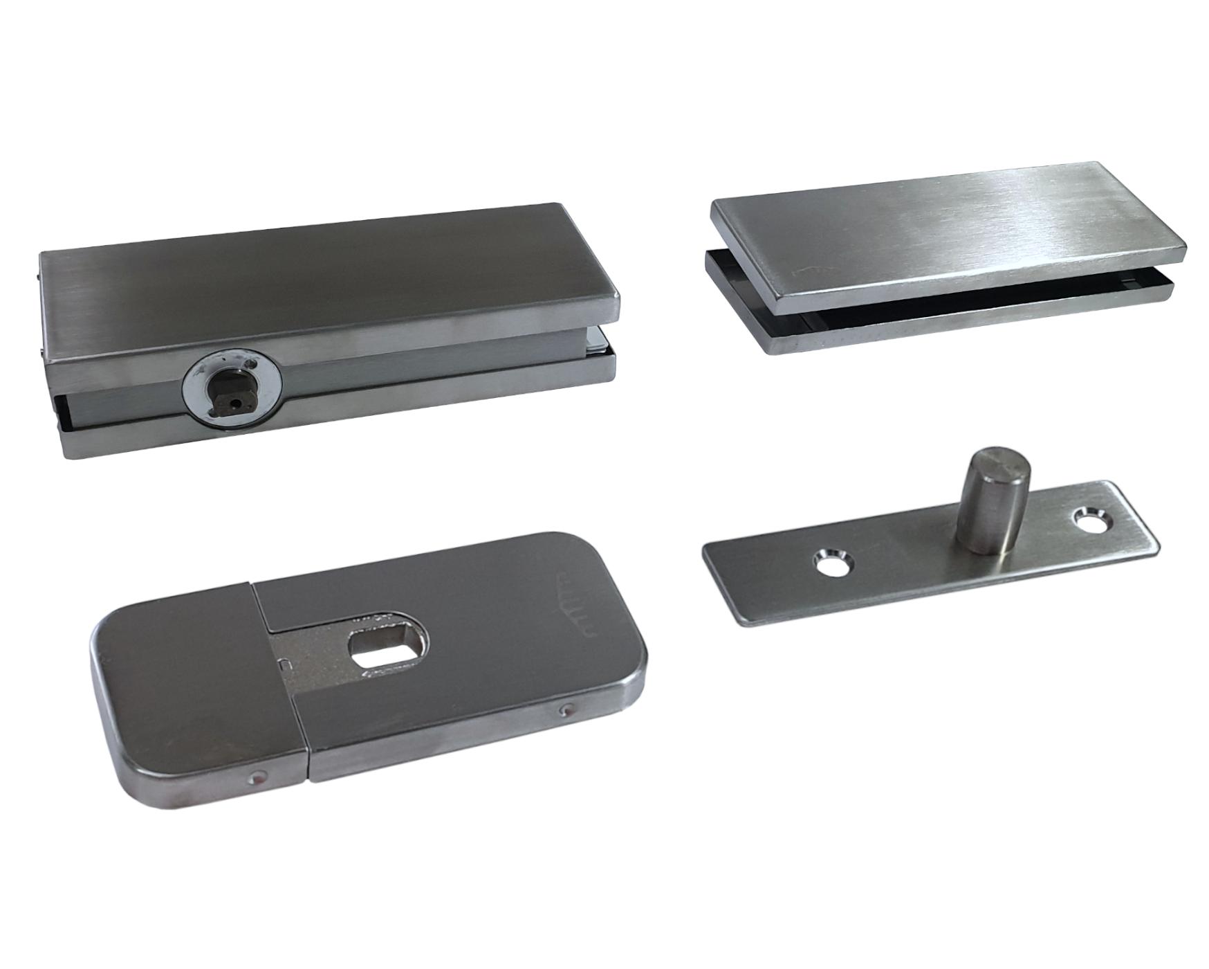 ODB 100 Glass Taatsdeurscharnier voor glazen deuren van max.100kg incl. bovenspeun