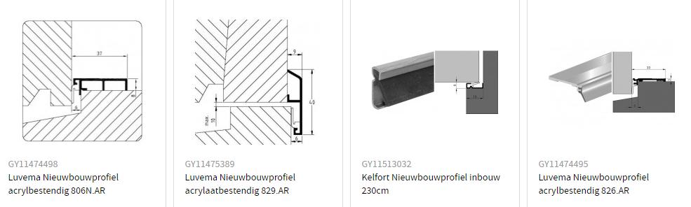 Nieuwbouwprofielen